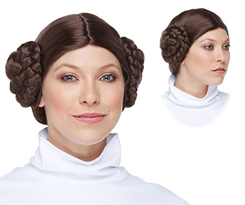 Deluxe Leia Wig Leia Costume Wig Space Princess Costume Wig for Women