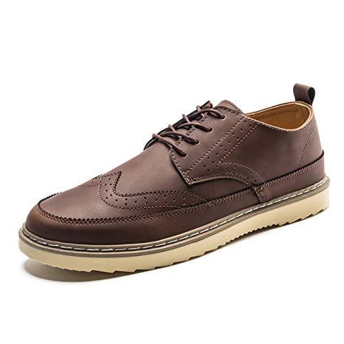 Daxx Leather - Men's Casual Shoes Oxfords Leather Shoes Business Soft Full Grain Lace-up Shoes(Brown-Lable 40/6.5 D(M) US Men)
