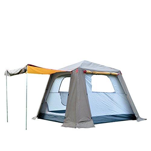 Automatique Pop-Up Tente De Camping Imperméable Coupe-Vent Double Peau 4-5 Personnes Tentes Extérieures Comprenant Un Fourre-Tout Sac