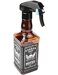 500ML Hairdressing Spray Bottle Salon Barber Hair Tools Water Sprayer (White) (Brown)