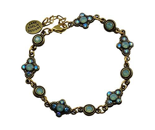 Anne Koplik 5 Fila Bracelet, Gold Plateds, 9