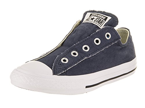 Converse Kids Chuck Taylor All Star Slip Ox Navy Basketball Shoe 12.5 Kids US by Converse