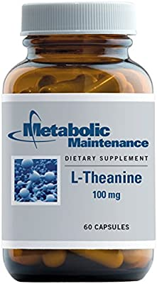 Metabolic Maintenance - L-Theanine - 100 mg, Promotes Relaxation + Immune Support, 60 Capsules