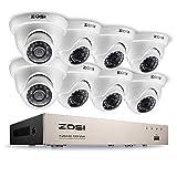 ZOSI 8Channel HD-TVI 1080N Video DVR 8x Outdoor Indoor Waterproof Day Night Vision
