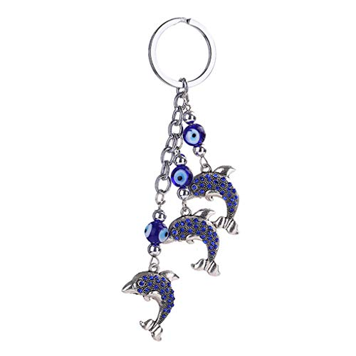 - irene ineventOwl/Dolphin/Fruit Tree Shaped Pendant Keychain Rhinestone Key Chain Car Key Buckle Keyring Gifts