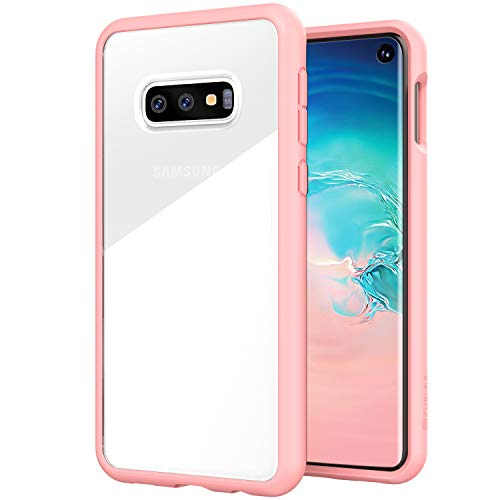 (ZUSLAB Tough Fusion Designed for Samsung Galaxy S10e Case Clear with Transparent Back Cover - Pink)