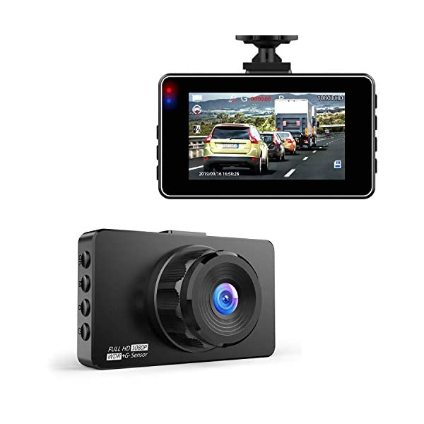 Dash Cam, Hexdeer Dash Camera Recorder FHD 1080P, Car Cam Vehicle DVR with 3 Inch...
