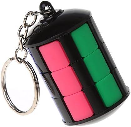 Kofun llavero magnético con forma de cubo de la Torre de la marca Hidmon, con bloques de colgantes, puzle, juguete educativo, llavero