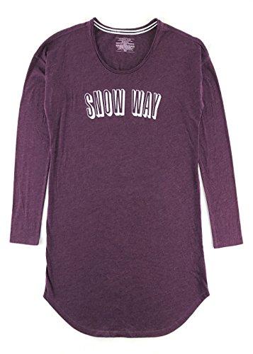 Victoria's Secret The Angel Long Sleeve Sleepshirt Ruby Wine Snow Way Medium