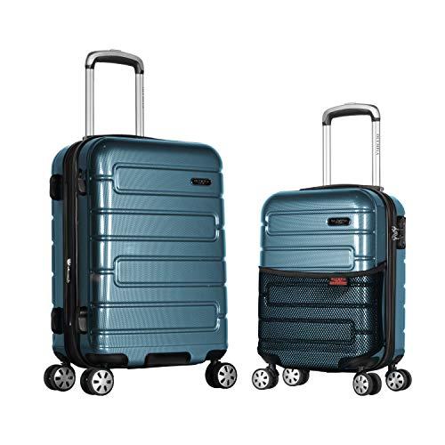 Olympia Nema 2-Piece Pc Hardcase Carry-on Set W/TSA Lock, Te