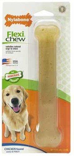 Nylabone Flexi Chew Bone, Chicken Flavor, Giant, My Pet Supplies