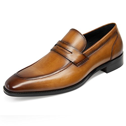 - GIFENNSE Men's Leather Loafers Shoes Mens Dress Shoes,Black Shoes,Brown Shoes(10US/Brown