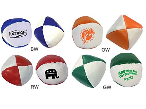 Ummah Promotions 100 Personalized Kickbag - Hacky Sack Printed with Your Logo / Message by Ummah Promotions (Image #1)