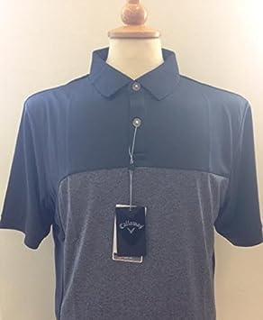 Callaway Solid Block Polo deportivo, color azul marino/Grey Marl ...