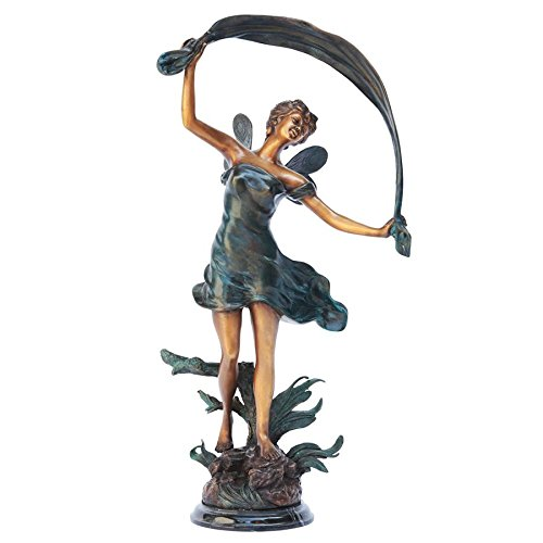 Design Toscano Isadora, The Dancing Fairy Bronze Garden Statue
