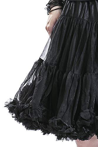 Banned A Noir rouge 50cm Jupon Froufrou Jupe Sous vpqrxRv