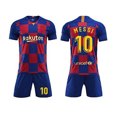 Camiseta Jersey Futbol Barcelona 2018-2019 Traje de niños Manga Corta + Pantalones Cortos