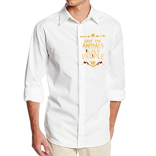 Carina Save The Animals, EAT PEOPLE One Size Soft Men's Stripe Snap Shirt XL (Save The Animals Merchandise compare prices)