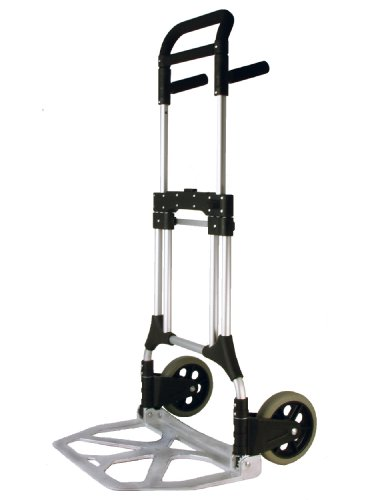 RWM Casters FW-90 Aluminum Folding Hand Truck with Loop Handle, 440 lbs Load Capacity, 50' Height, 23' Width x 15' Depth