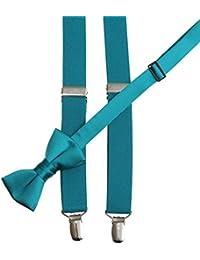 Bow Tie and Suspender Set Combo in Men's & Kids Sizes