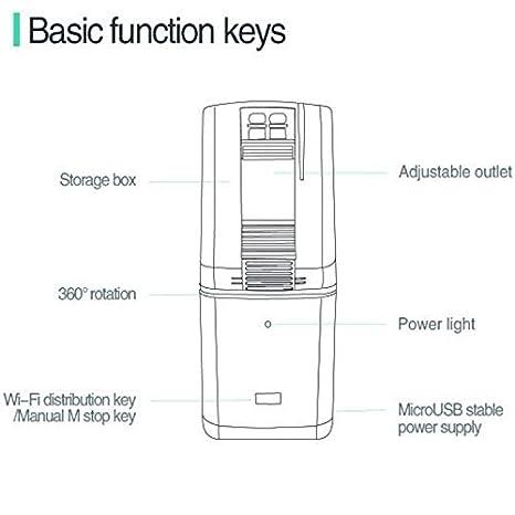 NCFAQUA iLONDA Smart WiFi Alimentador automático de Peces para Acuario, Acuario, pecera, móvil, App Mando a Distancia, Soporte Amazon Echo Google Home: ...