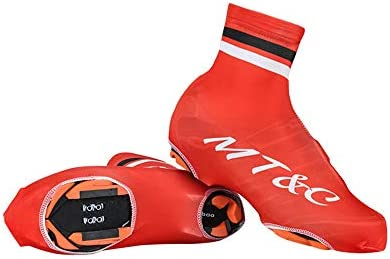 シューズカバー 自転車ロックシュー風やほこりのマウンテンバイクの靴、アウトドアスポーツシューズ 防風性と防水性 (Color : Red, Size : M)