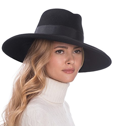 Eric Javits Luxury Fashion Designer Women's Headwear Hat - Camille - Black by Eric Javits