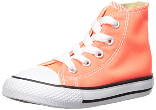 Converse Kids' CTAS-Hi K, Hyper Orange, 9 M US Toddler