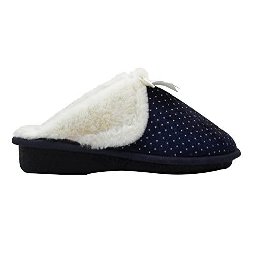 dc55b93bd Aski Comfort- Bow Cozy, Super Comfy Slippers For Women - Faux Fur with  Memory