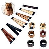 French Twist Bun Maker,Magic Bun Shaper Donut Hair Bun Maker Clip Fashion DIY Accessories Hair Making Styling Disk Tool for Girls - 5 Pack (1)