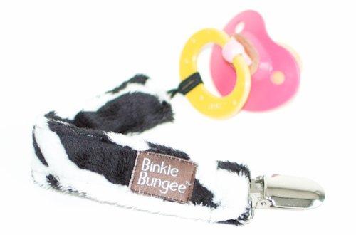 B001UFVWG0 Z. Daisy Zebra Binkie Bungee Baby Pacifier Clip Works with Soothies! 41HKq4UUptL