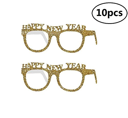 EBTOYS Happy New Year Party Favor Funny Glasses Party Sunglasses Party Props Costume Party Supplies,10 Pack New Year Costumes