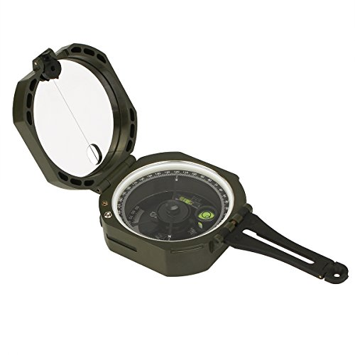 SVBONY Transit Pocket lightweight Compass Multifunction Geological Compass Fluorescent with Carrying Case Shockproof for Camping Hiking Outdoor Activities