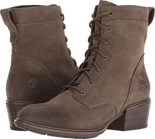 Timberland Women's Sutherlin Bay Mid Lace Boot Olive Suede 9.5 B - Leather Mid Green