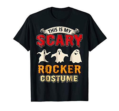 This Is My Scary Rocker Costume Halloween T-Shirt