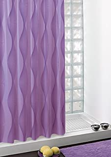 Gedy Extra Long Shower Curtain Lilac Electra 180x200cm With Rings C0218 212