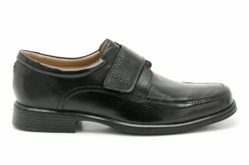 Mens Clarks Smart Leather Velcro Shoes Hoist Roll Black 9oz8ki
