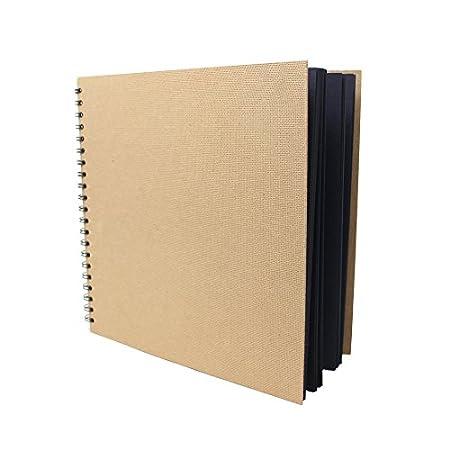 Artway Enviro - Quaderno da disegno - Quadrati ampi- 100% Riciclato - Carta / Cartone nero 285 x 285mm 30 pagine Artway Ltd