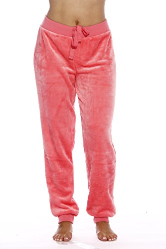 Coral-1X Velour Pajama Pants/Joggers for Women ()