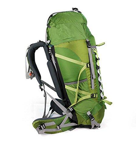 Alpinismo Al Aire Libre Mochila De Viaje 60L,Green Green