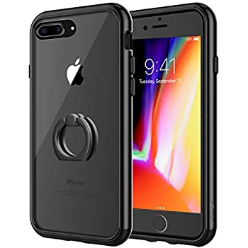aff5d71d1 JETech Case for Apple iPhone 7 Plus and iPhone 8 Plus, Ring Holder  Kickstand, Shock-Absorption Bumper Cover, Black