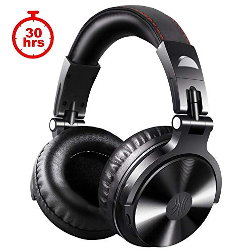 OneOdio Bluetooth Headphones DJ Headset 30 Hours Playtime Wireless/Wired Over Ear Headset Dual 50 mm Driver