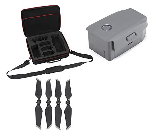 DJI Mavic 2 Intelligent Flight Battery Bundle with Professional Carrying Case and 2 Pairs Propellers for Mavic - Flight Propeller