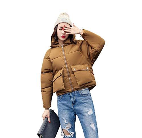 Rembourré Chaud Femmes Capuche Café Taille Coton Lâche Jacket Puffer Survêtement coloré Hiver Manteau Décontracté Large Oudan Épaissir qzxH0wtdt