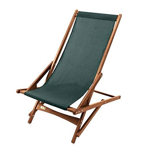Byer of Maine Pangean Glider/Sling Chair,Hardwood Keruing Wood,Hand-Dipped Oil Finish, Easy to Fold and Carry, Perfect for Camping and Tailgating,Forest Green 38
