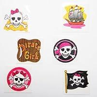 Pink Pirate Glitter Tattoos