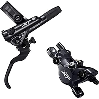 Image of Disc Brake Sets SHIMANO Deore XT M8100 M8120 Disc Brake and Lever - Hydraulic, Post Mount, 2-Piston, Black