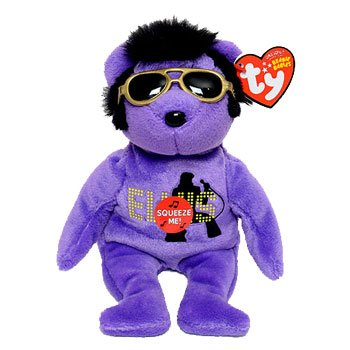 TY Beanie Baby 2010 purple, Your teddy Bear , Elvis