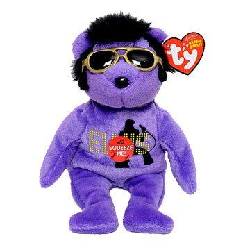 TY Beanie Baby 2010 purple, Your teddy Bear , Elvis (Presley Bear Elvis)