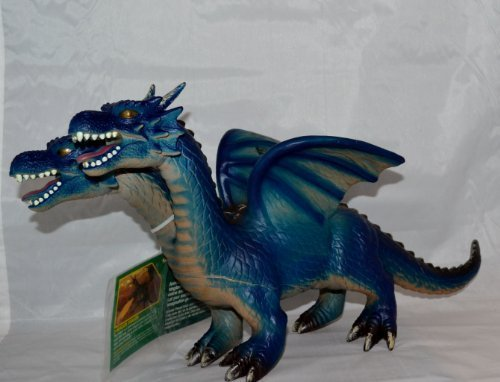 (Animal Planet 17 inch Two-Headed Foam Dragon - Blue)